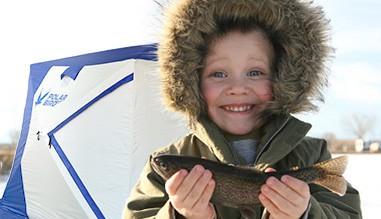 Палатка Polar Bird для зимней рыбалки с ребёнком